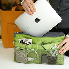Slim Bag-in-Bag for organized gadgets - nice to keep all your gadgets and their wires together in one place...:-)