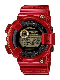 Celebrating the Anniversary of G-shock Watches.Iconic features and commemorating the 30 year evolution of the G-Shock watch, the Limited Edition watch in the Rising Red and gold colorway. Casio G Shock Watches, Sport Watches, Cool Watches, Watches For Men, Men's Watches, Wrist Watches, Fashion Watches, G Shock Limited Edition, Limited Edition Watches