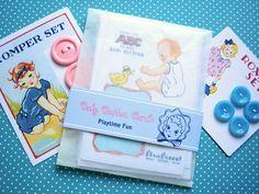 Baby Button Cards one dozen. $8.50, via Etsy.