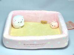 San-X Sumikko Gurashi Multi Tray Pink Case Box Shirokuma Plush Neko Japan