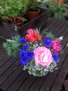Garden posy, July 9th 2014