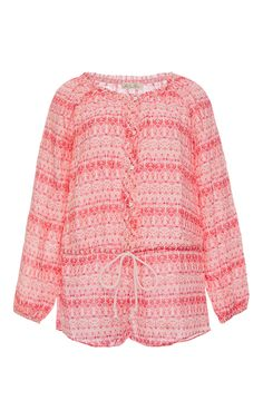 Cotton Long Sleeved Playsuit by Love Shack Fancy Now Available on Moda Operandi