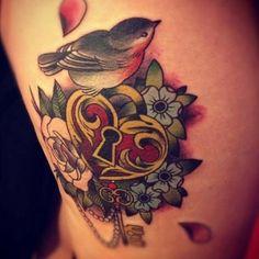 Tatuaje candado en forma de corazón | Tatuajesxd