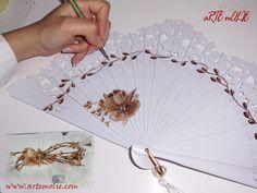 Vintage Fans, Diy Fan, Blogging, Victorian Fashion, Hand Fan, Folk Art, Decoupage, Tattoos, Creative