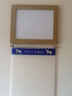Photo Frame Rosette Hanger  Personalised with Your Text