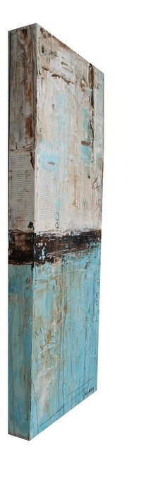 Original PAINTING box 3 thick Landscape Painting abstract painting wall art from jolina anthony fast and free shipping