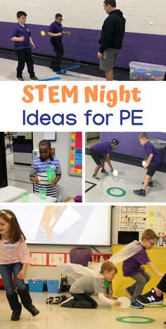 If you are looking for activities to include in your school's STEM Night, or if you are just looking to add some STEM activities into your PE program, view the ideas below from PE teacher Jennie Graves. There are 4 activities … Read Physical Education Activities, Elementary Physical Education, Elementary Pe, Pe Activities, Steam Activities, Team Building Activities, Educational Activities, Science Education, Education Quotes