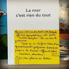 La mer c'est rien du tout de Joël Baqué  @editions_pol  Coup de coeur d'Alexandre librairie Port Maria à Quiberon #ideescadeaux #lespetitsmotsdeslibraires #book #livre