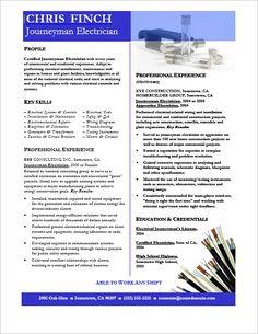 Electrician Resume Sample (resumecompanion.com) | Resume Samples ...
