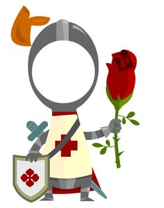 you celebrate Sant Jordi today, you can send one of these cute characters with your face to someone special :D Crafts For Kids, Arts And Crafts, Paper Crafts, Photo Props, Photo Booth, Castles Topic, Karl Otto, St Georges Day, Knight Party