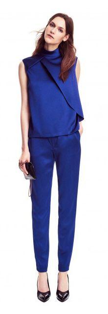 Filippa K Suit two-piece silk kobalt