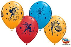 "DC Superhero GIRLS 11"" Latex Balloons Birthday Party Supplies Decorations"
