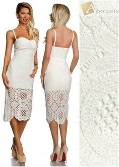 Bodycon Bodyconscious Shape Dress Damenkleid Optical Illusion Dress Luxus Weiß