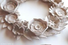 Egg carton wreath by Michelle Made Me