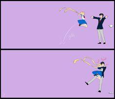Usagi and Mamoru: Cute dorks :)