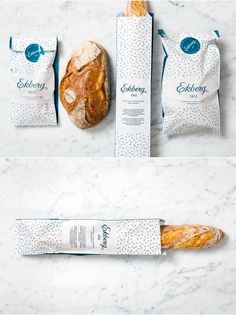 36 New Ideas For Bread Packaging Design Wrapping Bread Packaging, Bakery Packaging, Food Packaging Design, Beverage Packaging, Food Branding, Branding Design, Bread Brands, Bread Shop, Bakery Logo Design