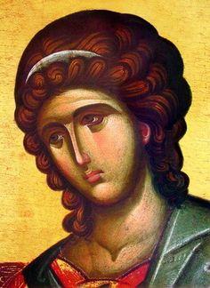Angel (Byzantine), 12×16,5, $10.00. Catalog of St. Elisabeth Convent. #CatalogOfGoodDeed #handmade #buy #order #orthodox #Christianity #gift #present #angel