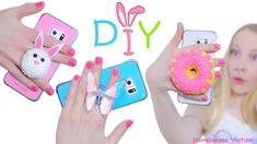 DIY Phone Grips - How To Make Cute Bunny, Donut and Butterfly Popsockets...