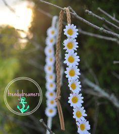 Daisy Flower Headband by trendydreamers on Etsy, $11.00