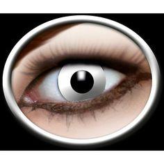 57b7c2b24a1c Kontaktlinser zombie. Hvide kontaktlinser som zombie øjne eller andre  uhyggelige udklædninger.  zombie