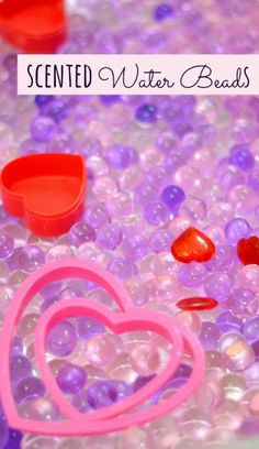 How to Make Scented Water Beads for SUPER sensory fun!  Adding the element of scent to this amazing sensory material was such a fun way to play.