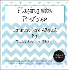 """FREE LANGUAGE ARTS LESSON - """"Playing with Prefixes"""" - Go to The Best of Teacher Entrepreneurs for this and hundreds of free lessons. 2nd - 4th Grade  #FreeLesson  #LanguageArts  http://www.thebestofteacherentrepreneurs.net/2016/07/free-language-arts-lesson-playing-with.html"""