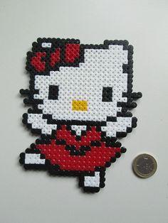Hello Kitty hama beads by FRIKIREGALO