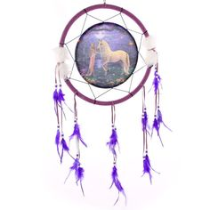 Decorative Fantasy Unicorn Garden 34cm Dreamcatcher Dreamcatchers are a great way to add colour and design to your home or workplace Made from a