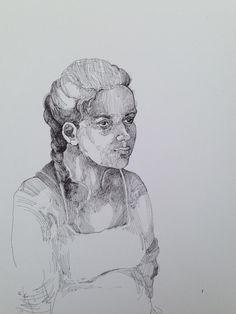 Robert Gabris Line Texture, Hue, Palette, Drawings, Style, Palette Table, Sketch, Portrait, Drawing