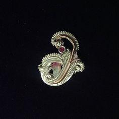 Custom Hat Pin Heady Wire Wrap Gemstone Jewelry by NoeticEffect, $150.00