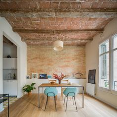 Barrel-vaulted ceilings and exposed brick walls evoke the heritage of this apartment in Barcelona, remodelled by local studio Nook Architects Home Interior, Interior Architecture, Interior And Exterior, Interior Design, Interior Modern, Ikea Interior, Nook Architects, Architects Journal, Loft Design