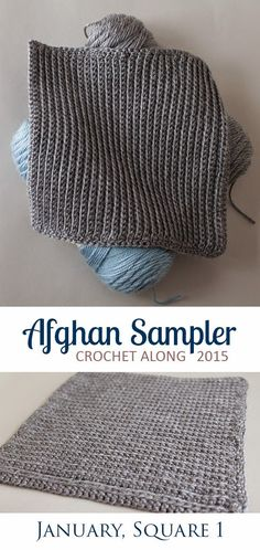 Easy Square 1 (January) of the 2015 Afghan Sampler -- Crochet along and have a finished blanket at the end of the year! | The Inspired Wren: