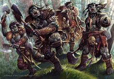 Orc warband.