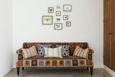 Modern and Classic Ethnic design by Godrich Interiors Love this couch!