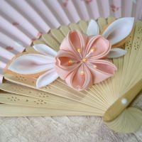 Sakura obidome kanzashi by elblack