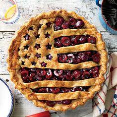 liberty Bing Cherries, Frozen Cherries, Sweet Cherries, Flag Pie Recipe, Summer Pie, Oven Racks, Pie Plate, Deep Dish, Pie Recipes