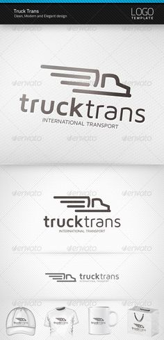 Truck Trans  - Logo Design Template Vector #logotype Download it here: http://graphicriver.net/item/truck-trans-logo/1467463?s_rank=141?ref=nexion