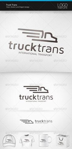 Truck Trans Logo   $29 http://graphicriver.net - #logo
