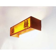 Steel Partners Twin Tree 4 Light Vanity Wall Sconce Shade Color: White Mica, Finish: Mountain Brown