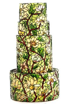 Stain glass wedding cake. It's buttercream art! | Queen of Hearts Couture Cakes