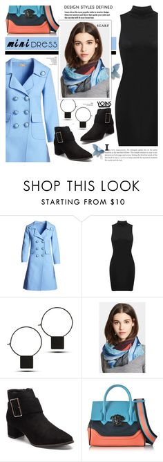 """""""Mini dress.scarf - Yoins 3.27"""" by cly88 ❤ liked on Polyvore featuring Michael Kors, Yigal AzrouÃ«l, Versace, Boots, scarf and minidress"""