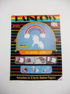 1980's Rainbows Craft Book by GiddyGirlVintage on Etsy, $7.00