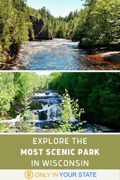With Deep Gorges And Spectacular Waterfalls, Copper Falls State Park Is One Of The Most Scenic Places In Wisconsin Mountain Bike Trails, Hiking Trails, Places To Travel, Places To Go, Hidden Beach, Local Attractions, State Parks, Wisconsin, Trip Advisor
