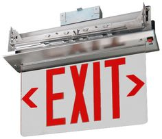 Emergency Lights Co. - Recessed Edge Lit Exit Sign, $94.99 (http://www.emergencylights.net/recessed-edge-lit-exit-sign/)