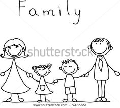family holding hands and smiling