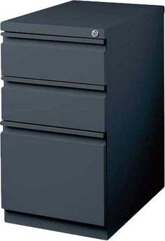 Drew 3 Drawer Mobile Pedestal File Cabinet