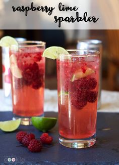 Take a break from the heat with this Cool Raspberry Lime Sparkler made with sparkling water. It's a festive beverage that's non-alcoholic. Try the recipe that your whole family will love.