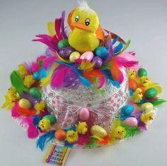 Over-the-top Easter bonnet Crazy Hat Day, Crazy Hats, Easter Bunny, Easter Eggs, Easter Hat Parade, Easter Crafts For Kids, Easter Stuff, Easter Ideas, Kid Crafts