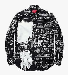Jean-Michel Basquiat for Supreme Collection Look Fashion, Diy Fashion, Fashion Outfits, Fashion Design, Jean Michel Basquiat, Custom Clothes, Diy Clothes, Only Shirt, T Shirt