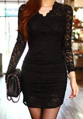 Little Black Lace Dress- Elegant Look Little Black Lace Dress